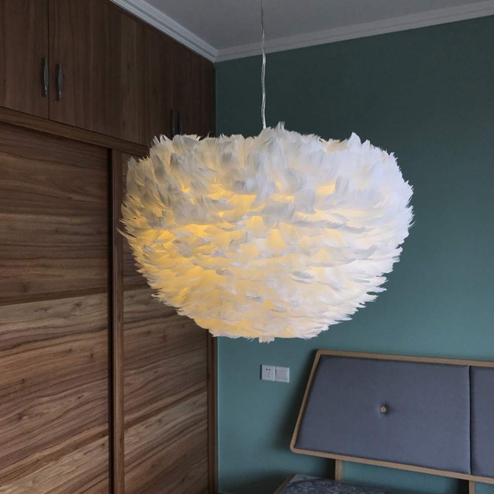 Sonmer Modern Pendant Light Feather Shade Chandelier Ceiling Light by Sonmer (Image #3)