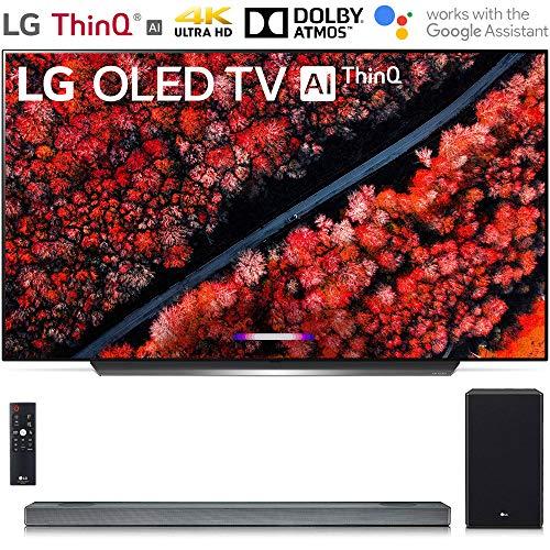 LG OLED65C9PUA 65″ C9 Smart OLED TV w/AI ThinQ (2019) with SL9YG 4.1.2 Channel High Res Audio Sound Bar Bundle