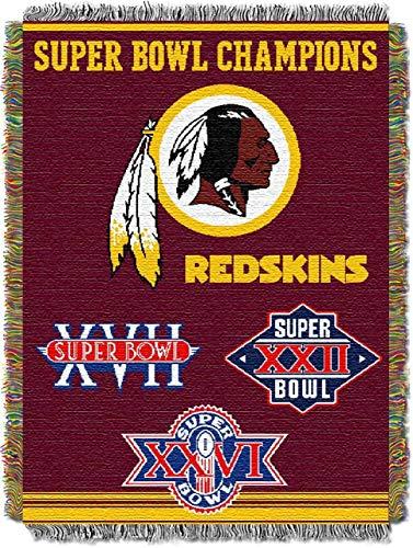 Northwest NFL 051 Commemorative Series Washington Redskins Super Bowl Commerative 48x60 ()