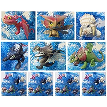 Amazon how to train your dragon 6 piece dragon collection how to train your dragon 6 piece dragon collection holiday christmas ornament set featuring skullcrusher ccuart Image collections