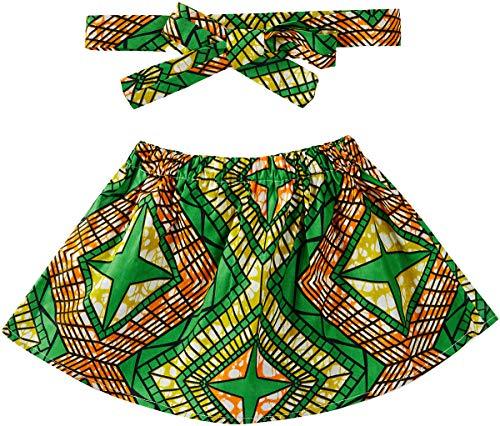 Aikaplus Baby Girl African Print Skirt Dsahiki Tradition Clothing (Small, Color B) ()