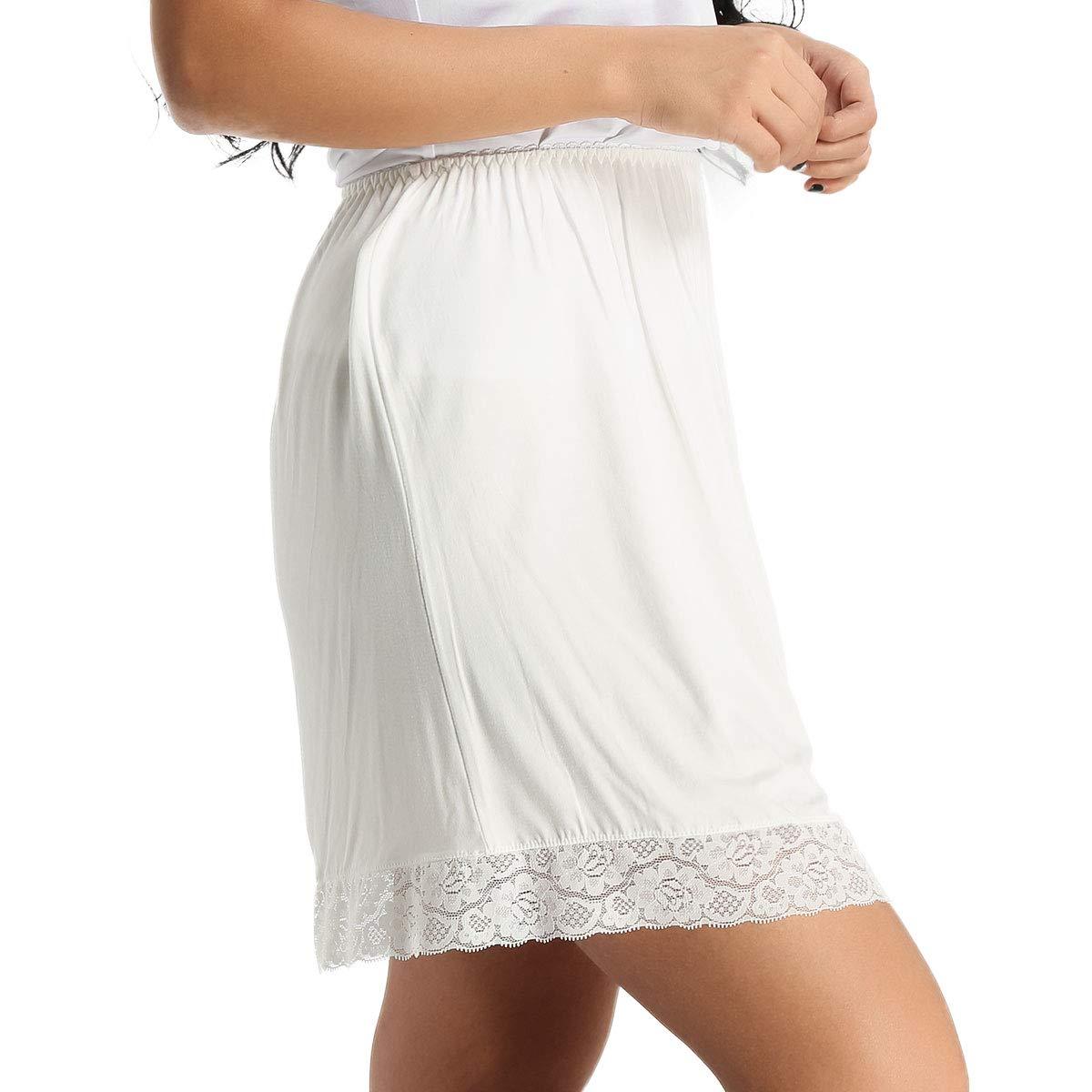 IEFIEL Femme Fille Jupon Crinoline Dentelle Coton Jupon Rockabilly Petticoat Femme sous Jupe Hanche Mariage F/ête Jupette Bal Danse Jupon Combinaison Underwear