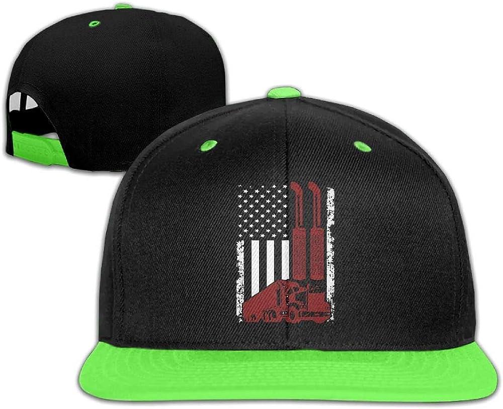 HERSTER Youth Boys/&Girls American Flag Trucker1 Baseball Cap Trucker Flat Bill Cap Hats