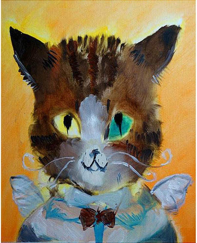 Iejsgfj Pintura por Números DIY para Adultos y niños Gato ángel ...