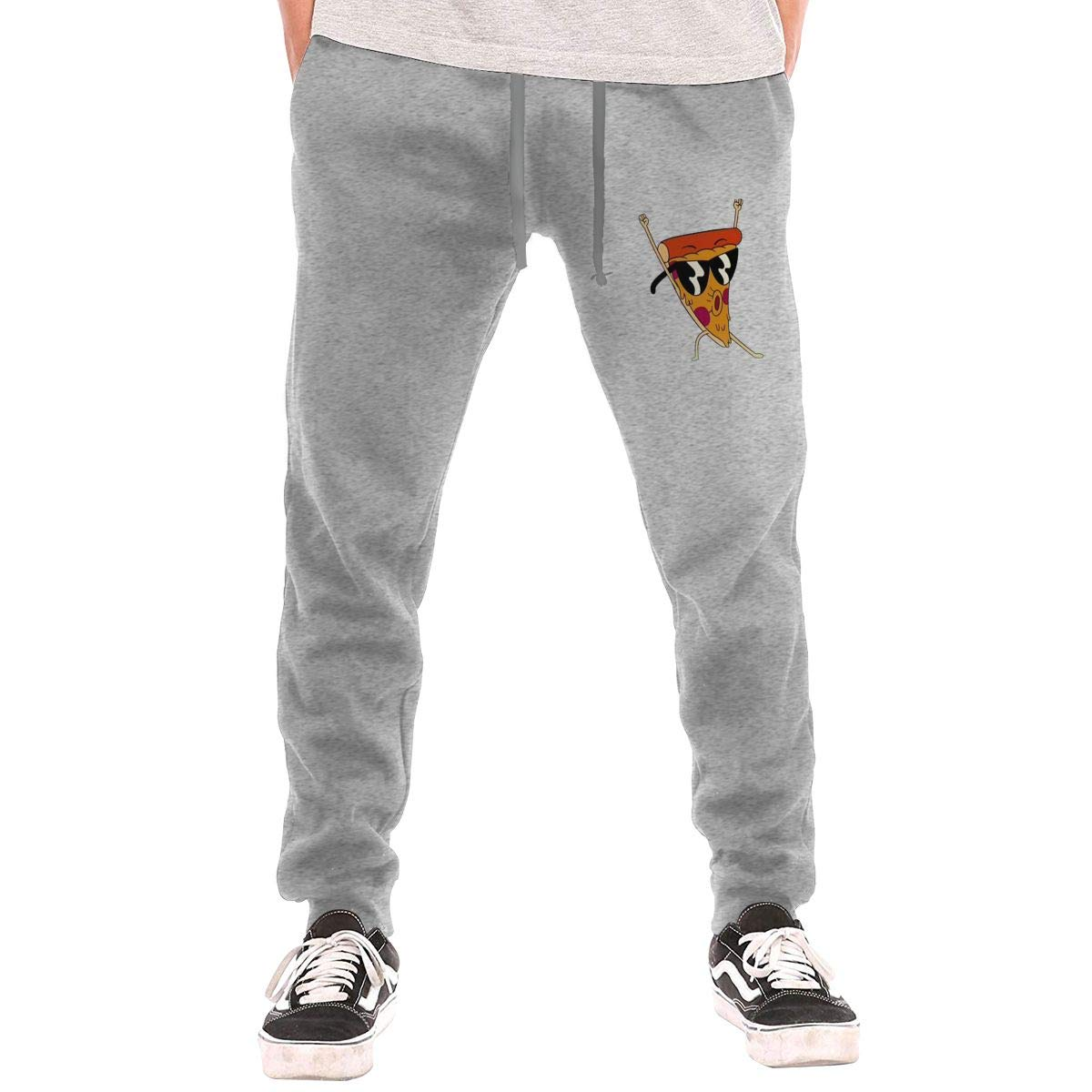 Numik A Pizza with Sunglasses Drawstring Waist,100/% Cotton,Elastic Waist Cuffed,Jogger Sweatpants