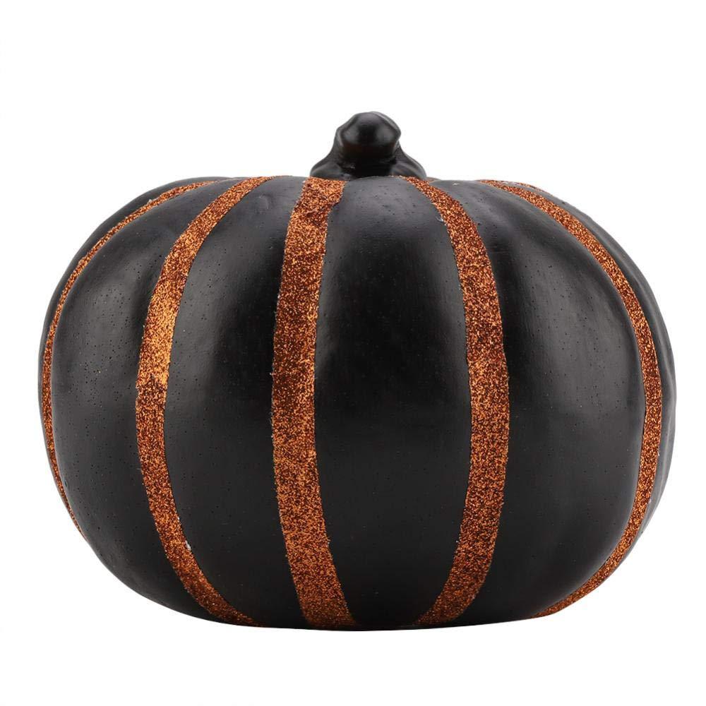 Zucca decorativa del modello decorativo della striscia del PVC delle zucche per Halloween Autumn Fall Ornament Table Decor (Orange) Fdit