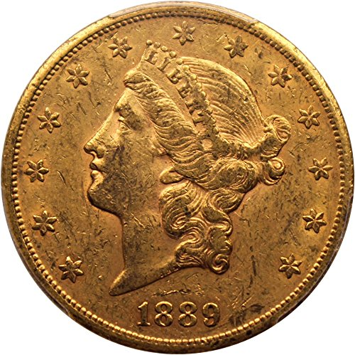 1889 CC $20 Liberty Gold Twenty Dollar AU53 PCGS\CAC