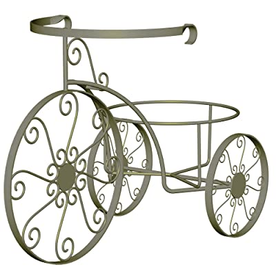 Panacea Products 89185 Whimsical Tricycle Plant Stand, Antique Willow Finish : Garden Decor : Garden & Outdoor
