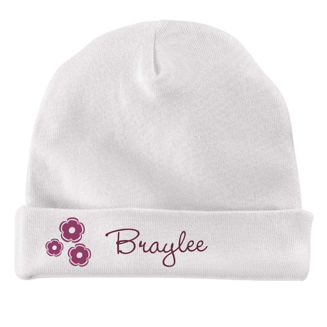 Infant Baby Hat FUNNYSHIRTS.ORG Baby Girl Braylee Flower Hat
