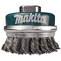 Makita 1 Piece - 3 Inch Knotted Wire Cup Brush For Grinders - Heavy-Duty Conditioning For Metal