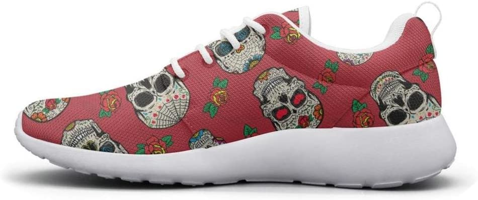 DEEEWKF Seamless pattern with mexican skulls isolated on image Mens 2018 Ultra Lighweight Running Shoes Classic