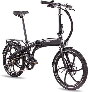 Chrisson eFolder - Bicicleta eléctrica plegable de 20 pulgadas con ...