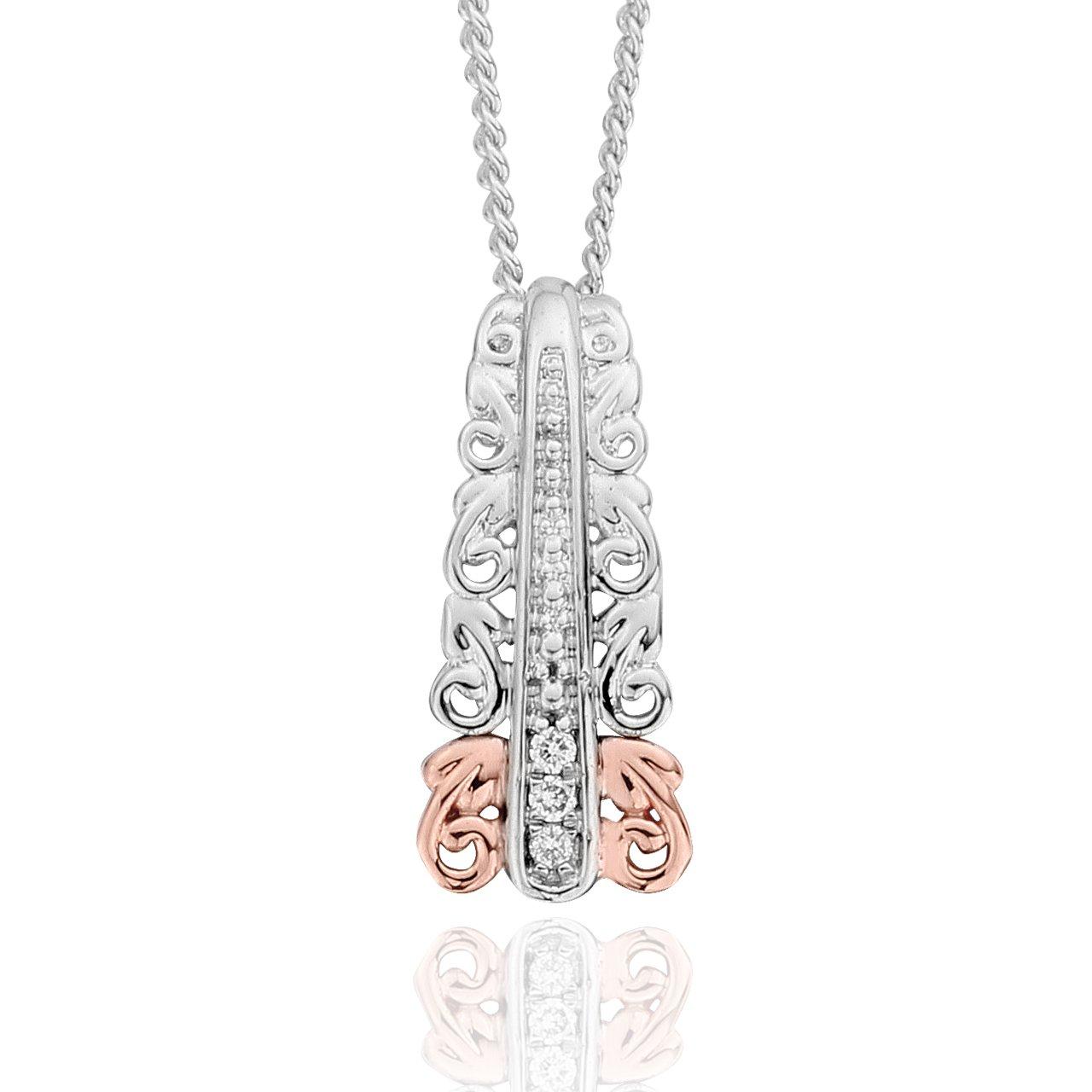 Clogau Women 925 Sterling Silver Diamond Pendant 3SABP03