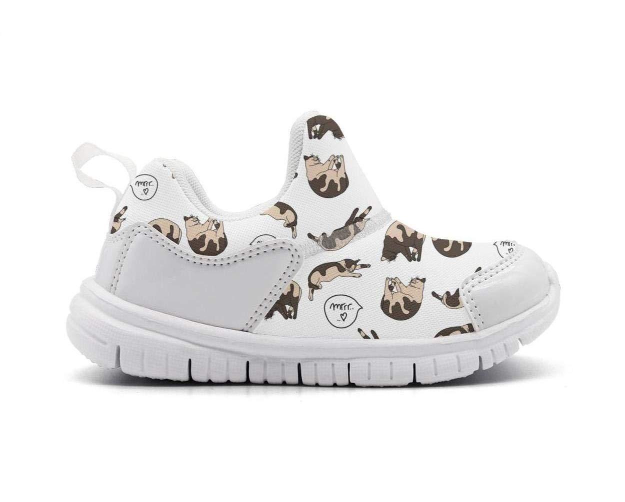 ONEYUAN Children Sleeping Persian Cat Snoring Kid Casual Lightweight Sport Shoes Sneakers Running Shoes