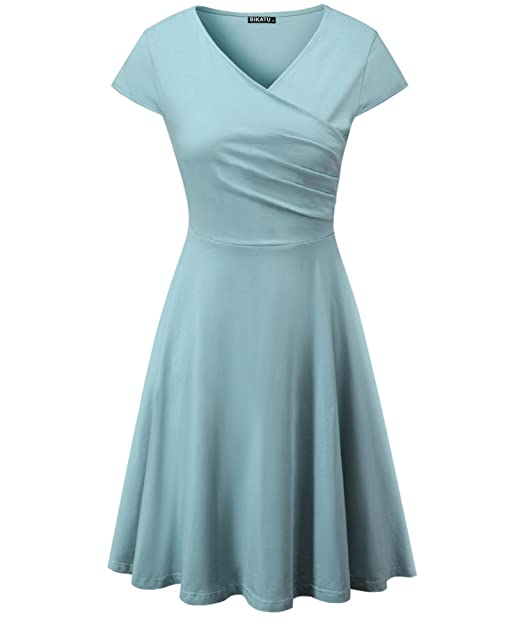 Casual Summer Dresses with Cap Sleeves