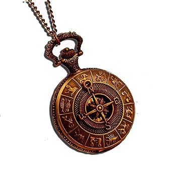 Antike taschenuhr mit kette  Fenkoo Das alte Rom Kompass Muster Quarz Analog Vintage antiken ...