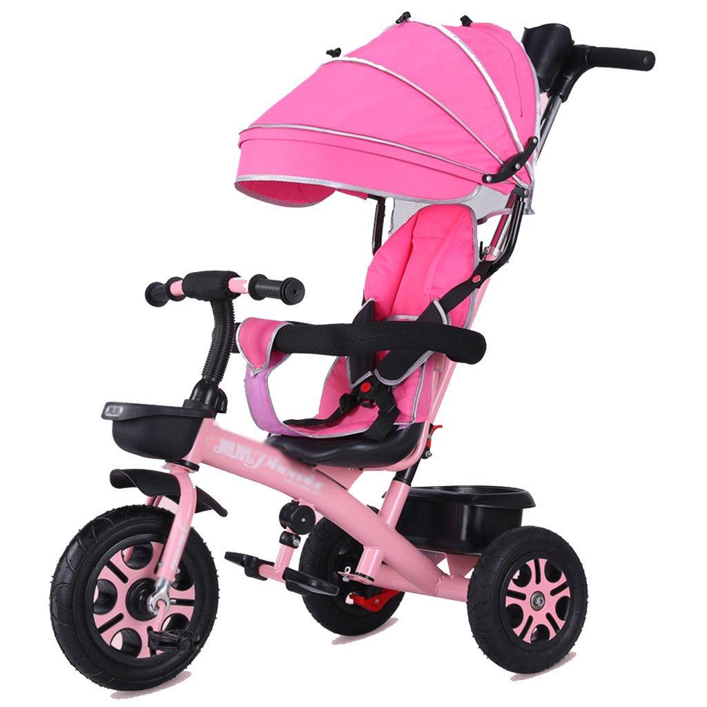 LYM &Poussette de bébé Bicyclette de Tricycle des Enfants de la ProHommesade Trike 1-3-5-2-6 Ans Vieille Roue Vide de Titane ( Couleur     2 )