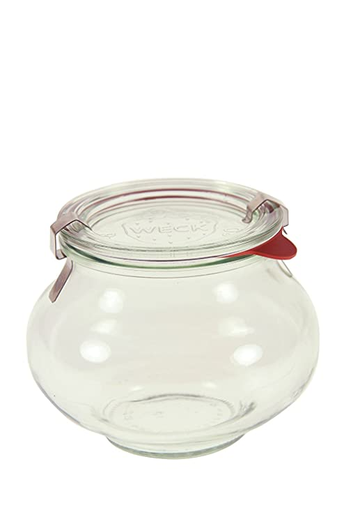 amazon com weck 901 deco jar 5 liter set of 6 kitchen dining