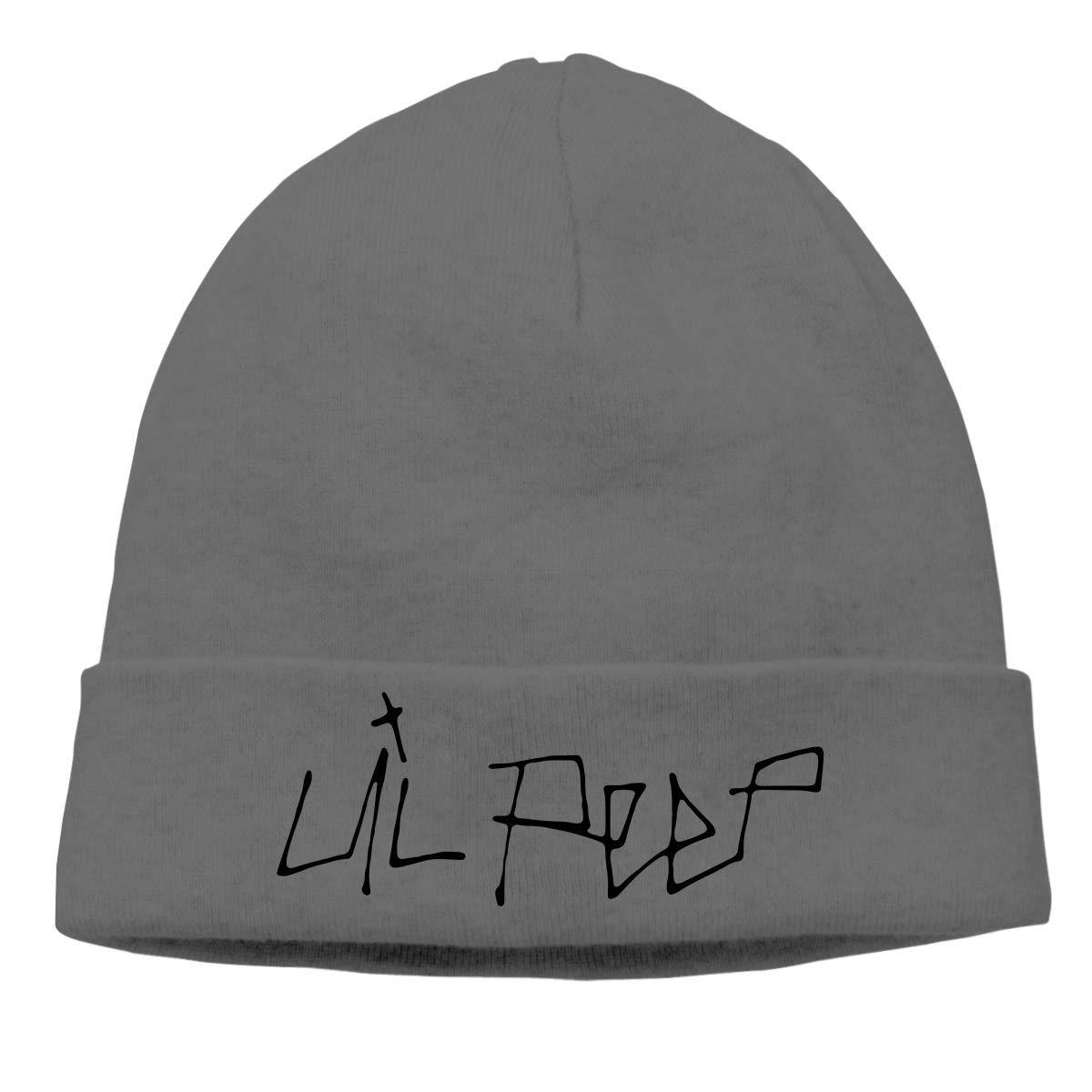 CHKWYN Lil Peep Logo Skull Hats Knitted Cap Beanie White