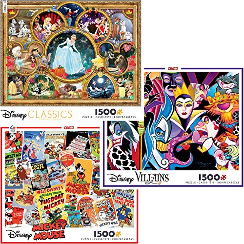 Disney Collage Collection 1500 Piece Jigsaw Puzzle Gift Set (3 Puzzles) ()