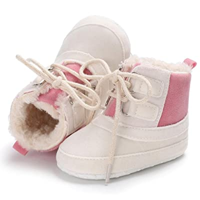 AMA(TM) Baby Girl Boy Winter Booties Warm Toddler Shoes Lace Up Soft Snowboots