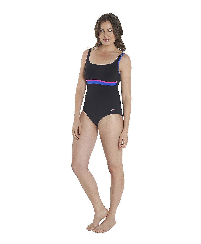 d4a0963a9cc7f Speedo Women's Sculpture Contour 1 Piece Swimsuit: Amazon.co.uk: Clothing