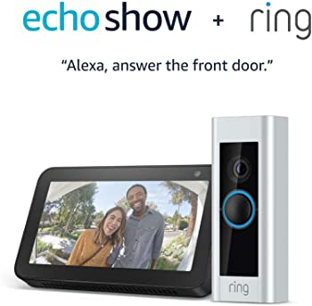 Ring Pro Wi-Fi Full HD Video Doorbell + Echo Show 5 (Charcoal)