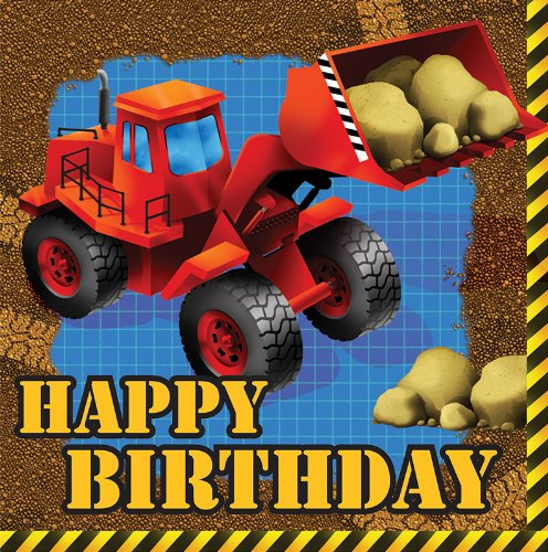 Creative Converting Construction Birthday Napkins
