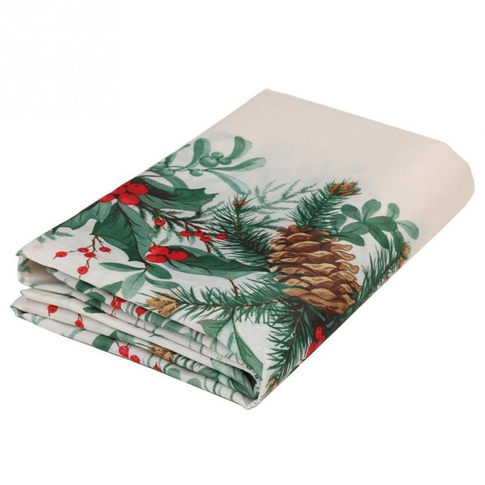 Cadeau parfait Nappes de Noël à imprimé carré Table à manger à draps décor (150x180cm) UabpT