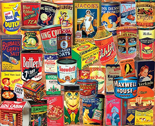 White Mountain Puzzles Vintage Tins - 1000 Piece Jigsaw Puzzle