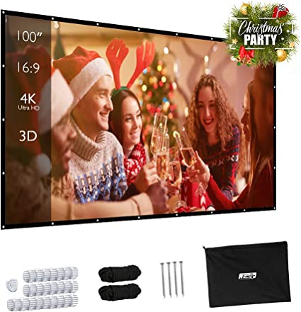 HD Projector Screen 16:9Home Cinema Theater Projection Portable Screen ProjectoR