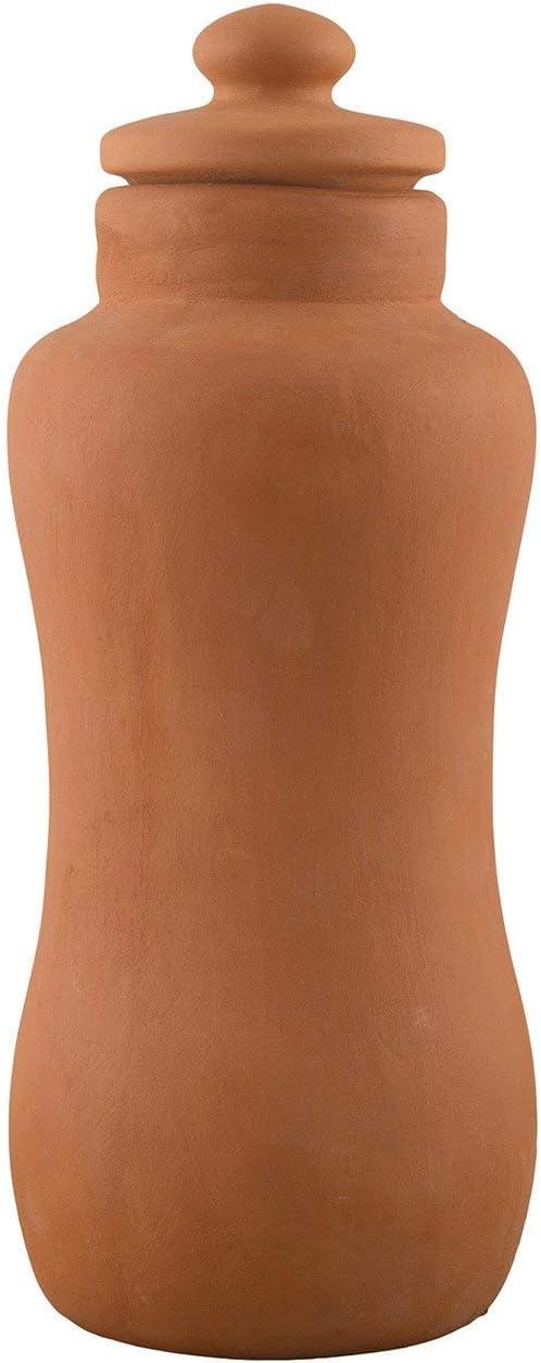 Odishabazaar Handmade Clay Terracotta/Clay Classic Water Bottle 1000ml Health Benefits