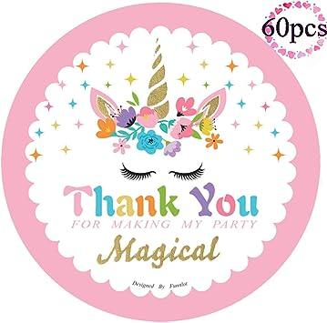 Amazon.com: funnlot gracias pegatinas de un unicornio mágico ...