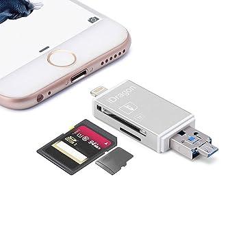 a1bf803cc9e58 utoptech cámara Lightning SD lector de tarjetas