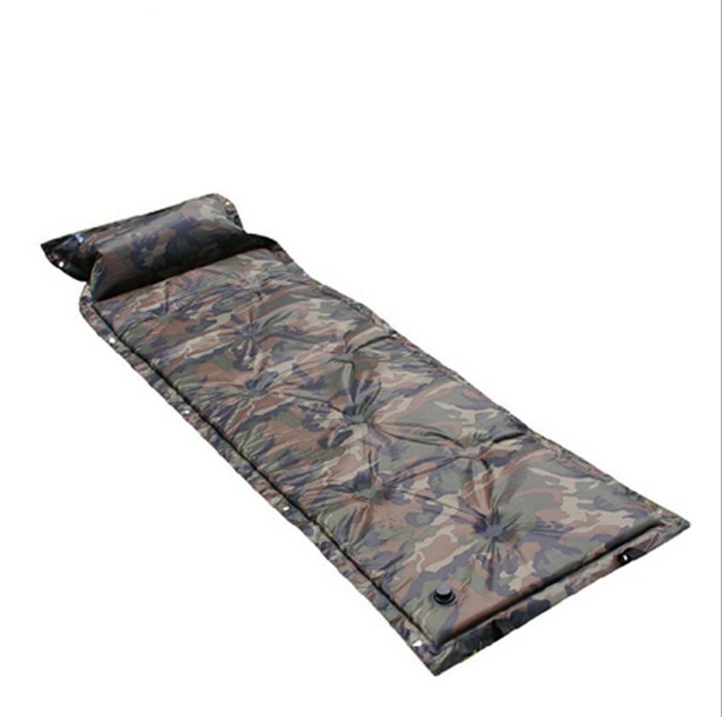 Aufblasbares Bett HETAO Air Bed Aufblasbare Pads Camouflage Automatische Aufblasbare Pads können Spachtel Kissen mit Luftkissen Outdoor Luftkissen 180  60  2,5cm Matratze