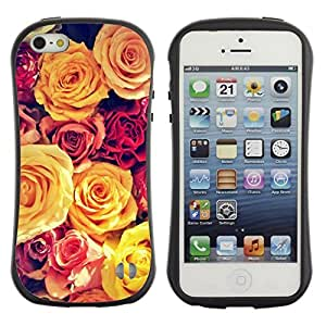 "Pulsar iFace Series Tpu silicona Carcasa Funda Case para Apple iPhone 5 / iPhone 5S , Viñeta amarillo Bouquet Spring Love"""