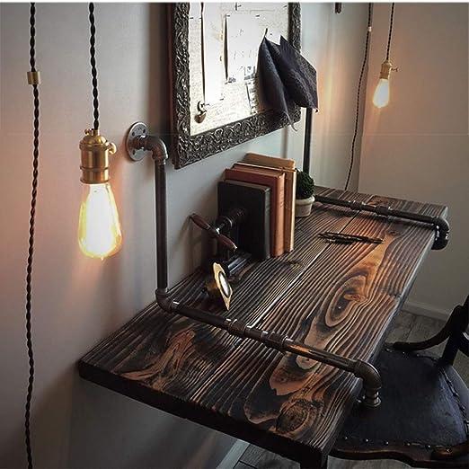 Mesa de pared rústica industrial flotante, mesa de comedor de ...