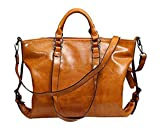 Evalent Retro Style Wax oil Cowhide Shoulder Bag