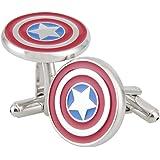 NexgenCover I Love Dad Cufflinks Hero Cuff-links Red Black Cufflinks (Hero Captain America Cufflinks Marvel Comics Formal Wear)