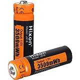 AA Pilas de litio recargables 3500mWh - Paquete de 2 pilas Hixon AA de 1,5 V 1200 ciclos, para juguetes de control…