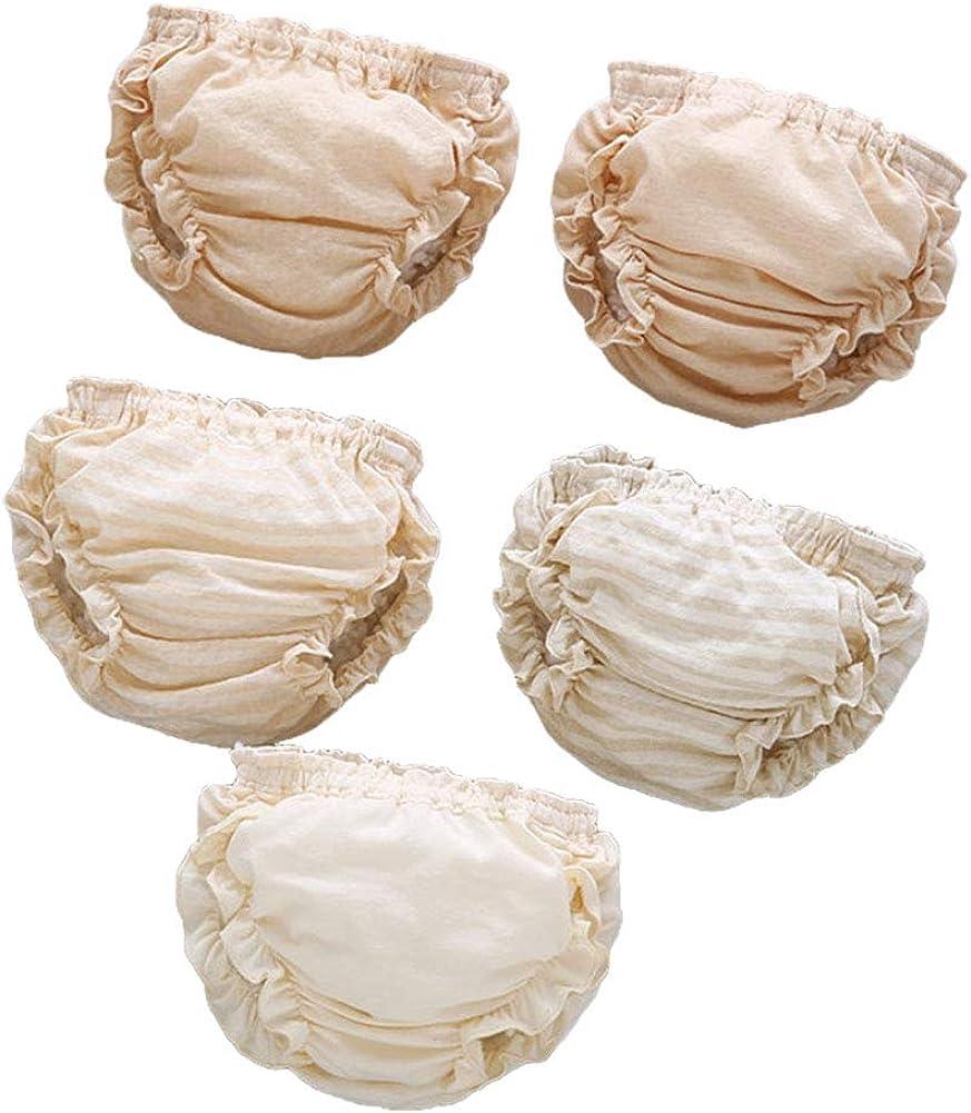 Tancurry Baby Komfort Elastische mit R/üschen Unterhosen Atmungsaktiv Weich Unterw/äsche 3Pcs