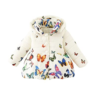 2b4e4a380b394 Little Hand Kids Girls Winter Warm Coat Cute Rabbit Animal Hoodie Pink  Jacket Fleece Outerwear Age 1 to 5 Years