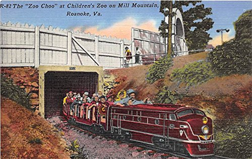 The Zoo Choo at Children's Zoo on Mill Mountain Roanoke, Virginia, VA, USA Postcard Post Card (Best Mountain Towns In Va)