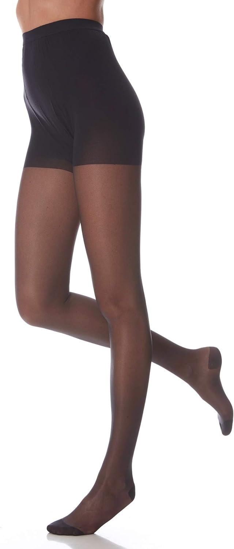 Compresi/ón fuerte 18//22 mmHg. NEGRO P Tus piernas descansan y previene la aparici/ón o evoluci/ón de las varices PANTY VARICEL 140 Compresi/ón graduada
