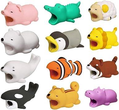 C/âble USB de protection de c/âble mignon animal de dessin anim/é mignon pour emp/êcher liPhone de sab/îmer