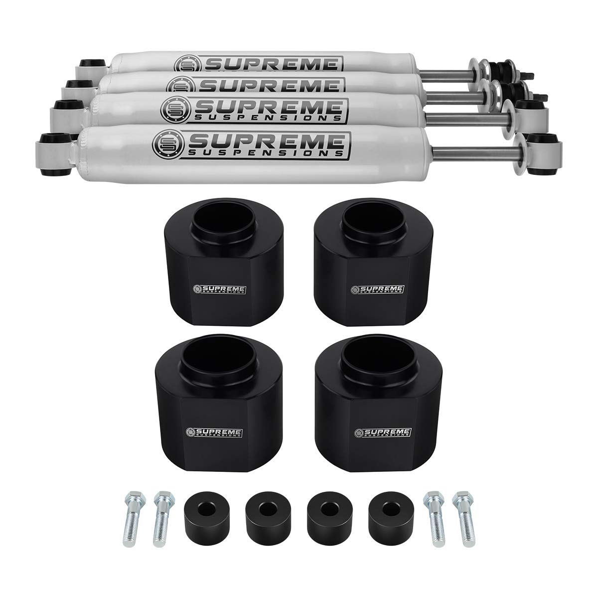 Pro Performance Series Shocks 3 Rear Suspension Lift Supreme Suspensions Easy Install Jeep Grand Cher Grand Cherokee Lift Kit Full Suspension Lift and Upgrade 3 Front Suspension Lift Transfer Case Drop CNC Machined High Crystalline Delrin Black