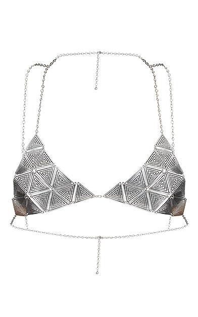 Buy Femnmas Silver Designer Body Bra Jewellery Chains For Girls Women Silver At Amazon In