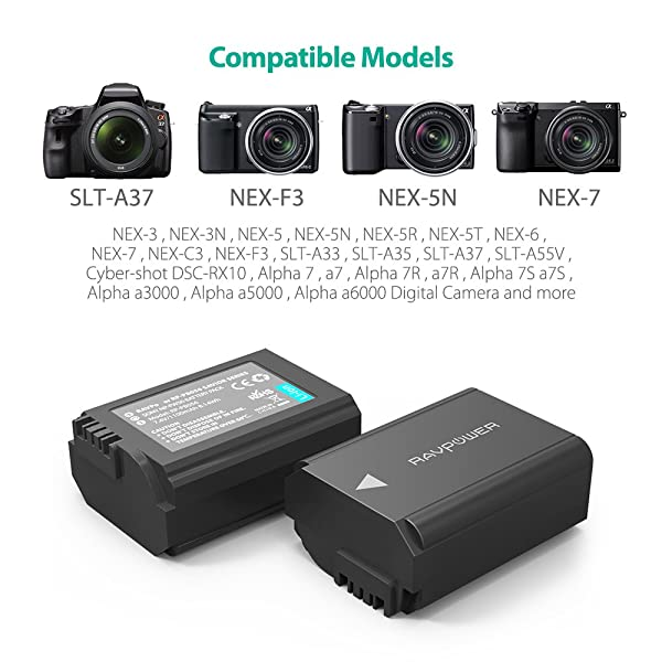 RAVPower is the best digital camera battery for Sony