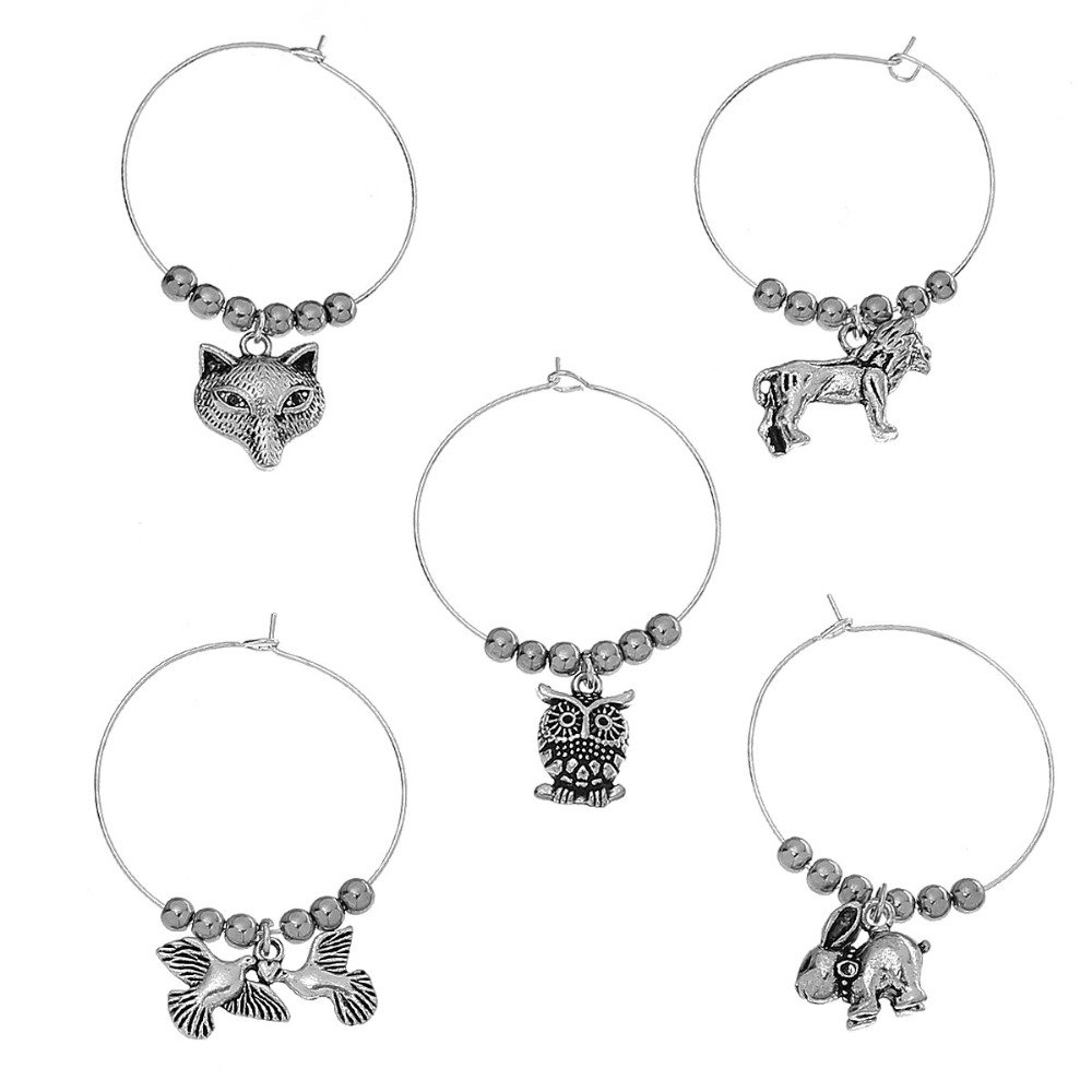Wine Glass Charms Animal Mark Table For Party New Year Christmas Decorations Gifts
