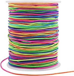 1mm Elastic String, 328 Feet Colorful Stretch Cord for Beading, Bracelets, Necklace, Jewelry Making and DIY Crafts